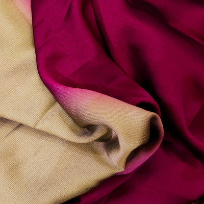 Shaded Grey Beige And Wine Harmony Chiffon Flowing Fabric