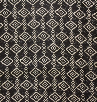 Rayon Black Geometric Print Fabric