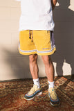 CORDUROY BASKTEBALL SHORTS - LAKERS