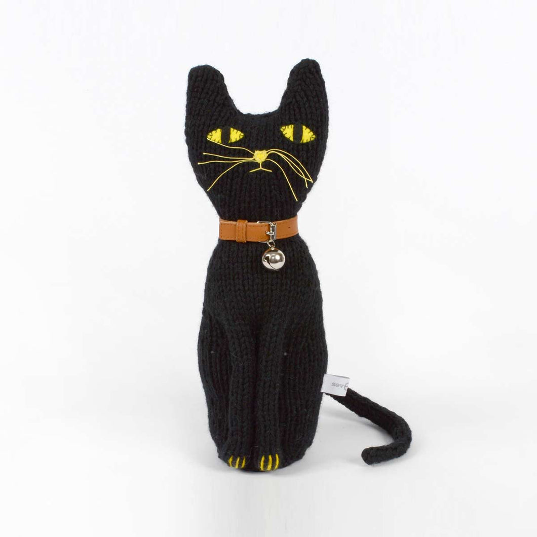 Severina Kids Hand Knitted Black Cat Lucho