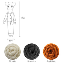 Severina Kids Pyjamas Doll dimensions and three hair colour options