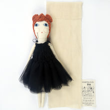 Severina Kids Tribute to Molly Goddard Dolls Fashion Blogger New in black dress, with black bag and cotton bag packaging