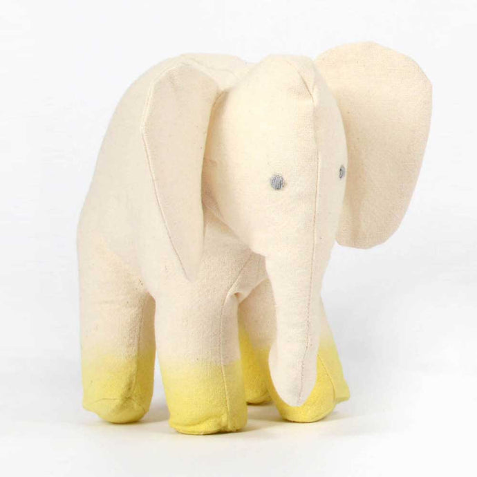 Cotton mini elephant with yellow paws - Severina Kids