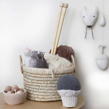 Severina Kids Hand Knitted Mice Trio in a basket