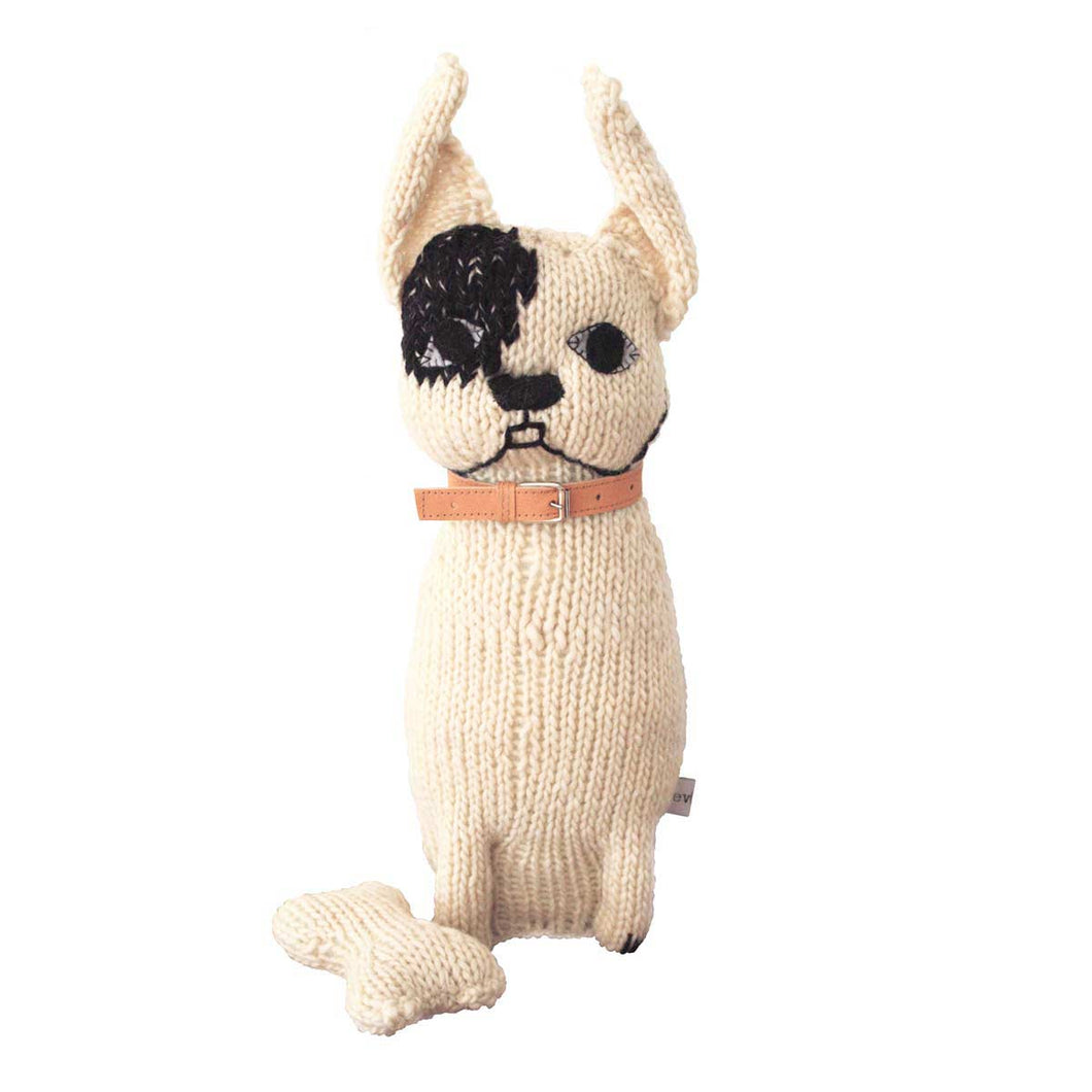 Severina Kids Hand Knitted Dog with Patch