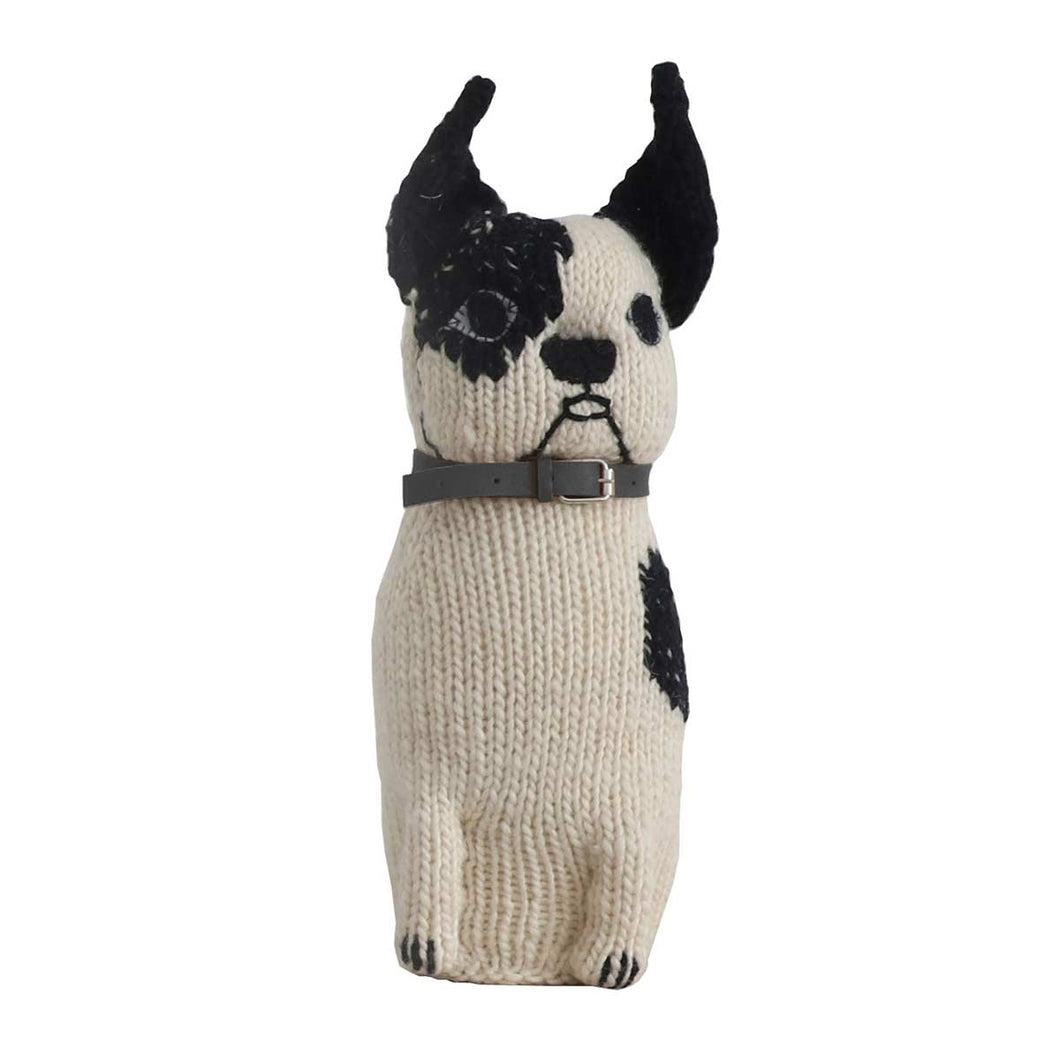 Severina Kids Hugo hand knitted dog black collar