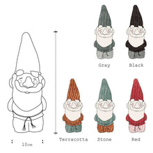 Hand Knitted Gnome dimensions and five colour options