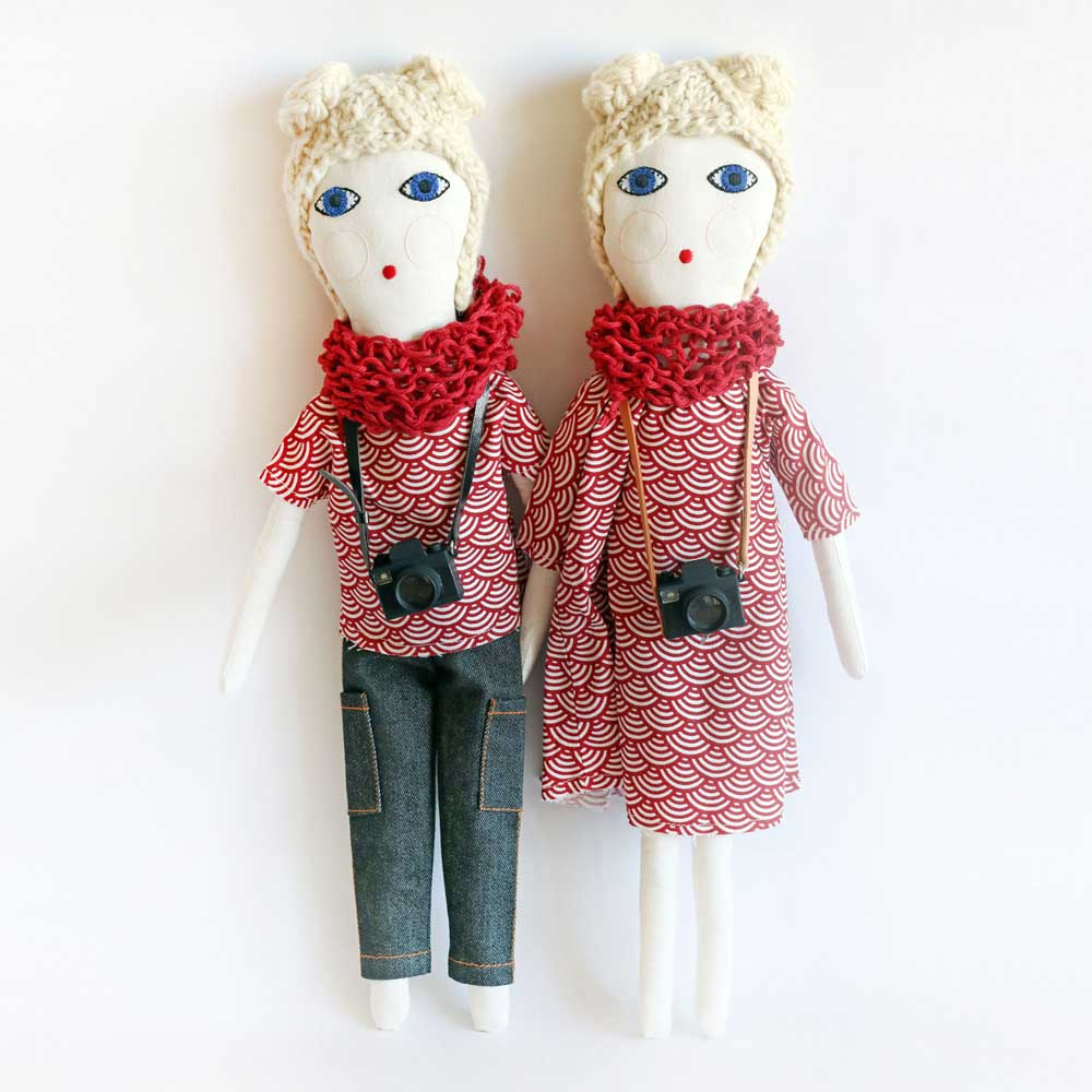 Blond Fashion Blogger Doll