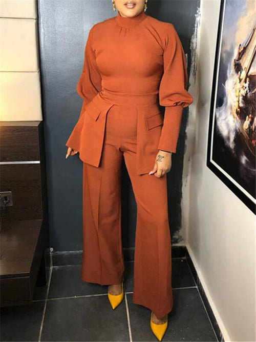 Wide-Leg Jumpsuit With Pockets