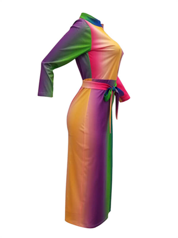 413a8af24a994 Rainbow Zip-Front Bodycon Dress – BELLIZIMOS