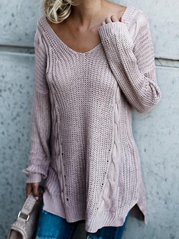 Back Bandage Loose Sweater