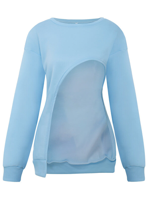 Asymmetric Crewneck Top