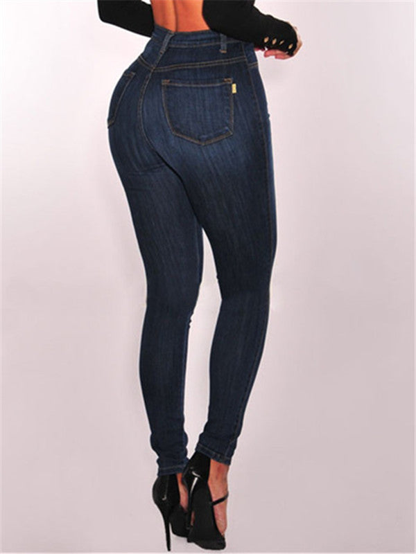 High-Waist Stretch Skinny Leg Jeans