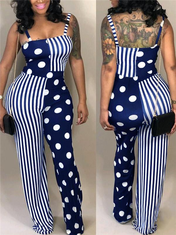Asymmetric Strap Wide Leg Jumpsuit