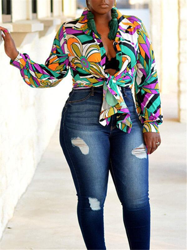 Floral Printed Colorful Shirt