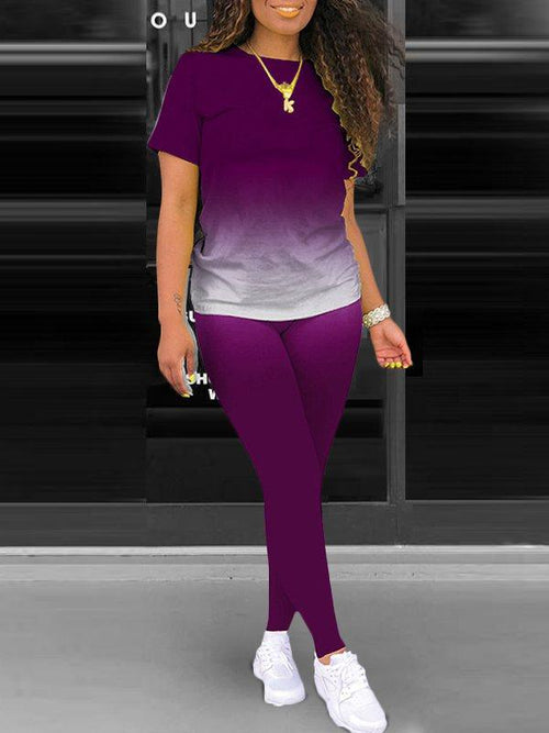 Ombre Tee & Pants Set