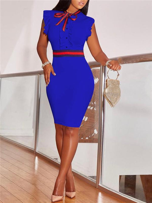 Frilled Bodycon Dress