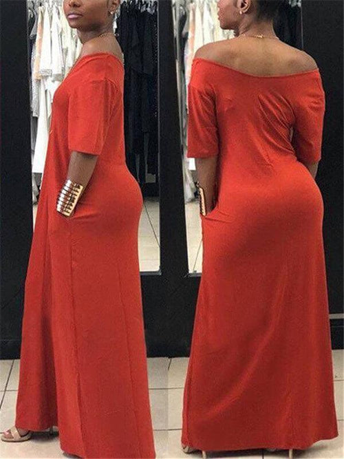 Solid Color Maxi Dress