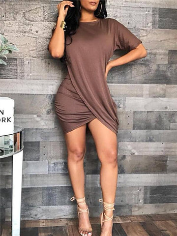 Ribbed Cutout Dress