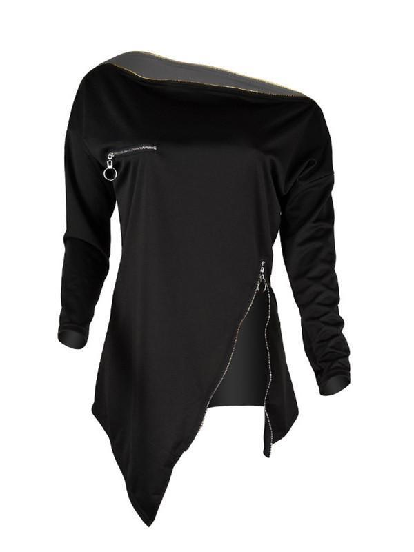 Zip Asymmetric Sweatshirt