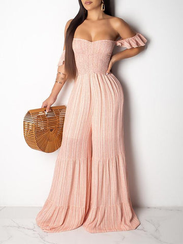 Cold Shoulder Flared Chiffon Dress
