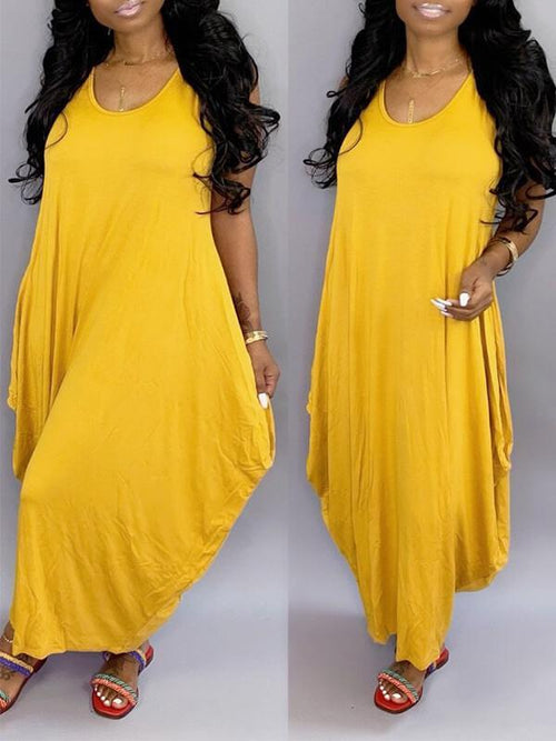 Sleeveless Slouchy Maxi Dress