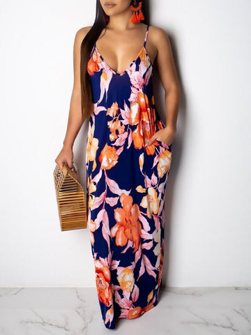 Color-Block Wrap Maxi with Belt