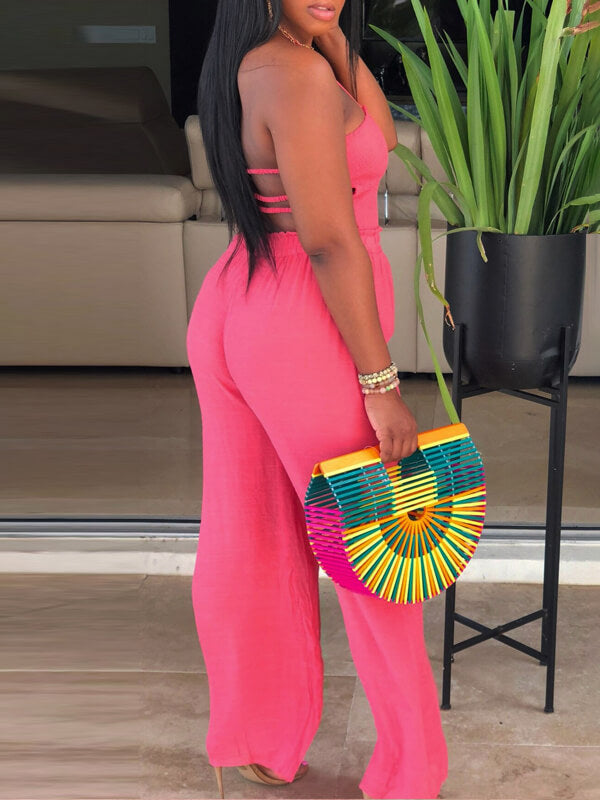 Backless Halter Jumpsuit