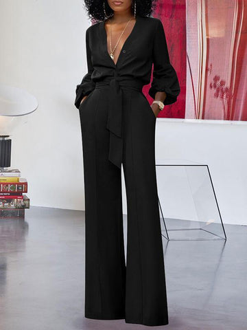 Cinched-Waist Everyday Jumpsuit