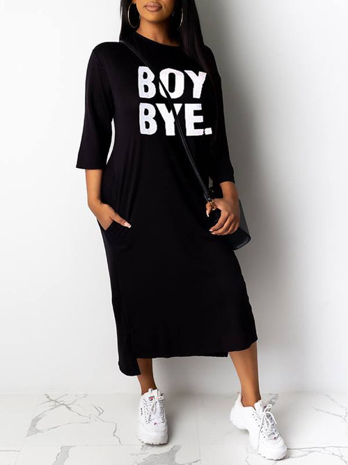 Boy Bye Tee Dress