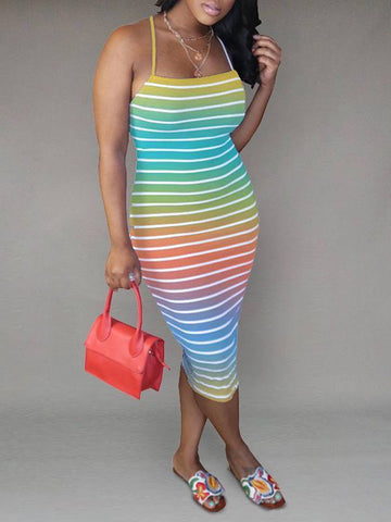 Solid Parachute Dress