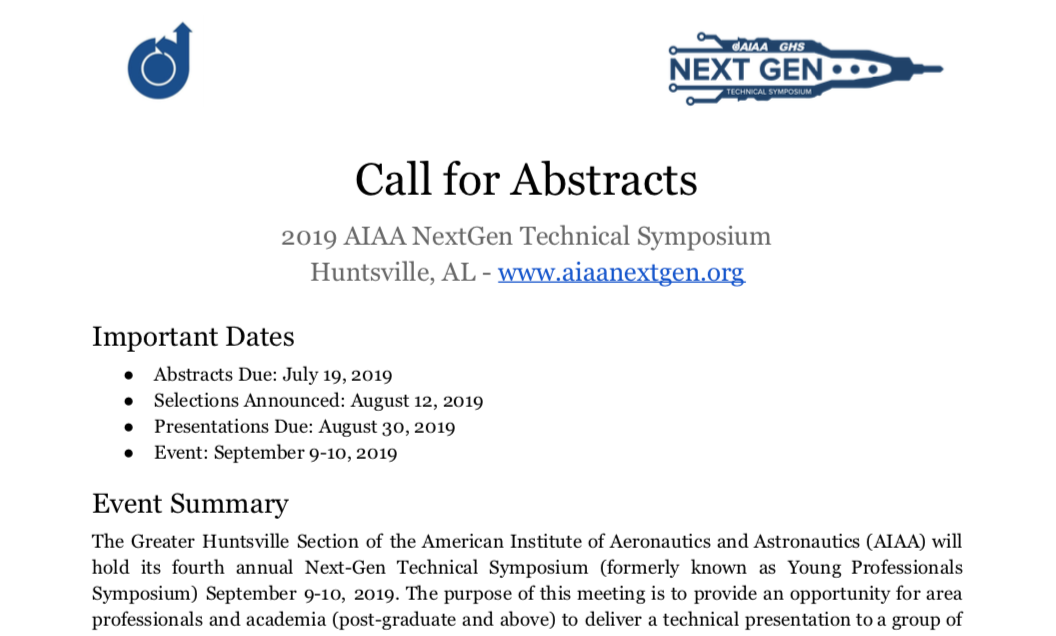 Call for Abstracts Preview