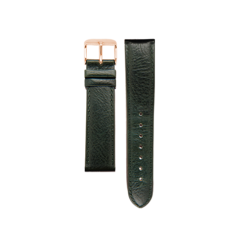 Army Green Band Rose Gold Buckle