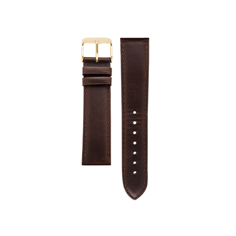 Brown Band Gold Buckle