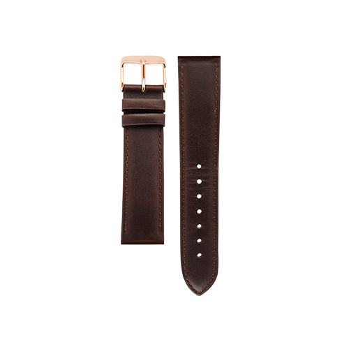 Brown Band Rose Gold Buckle