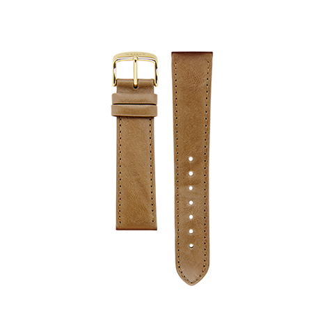 Latte Band Gold Buckle