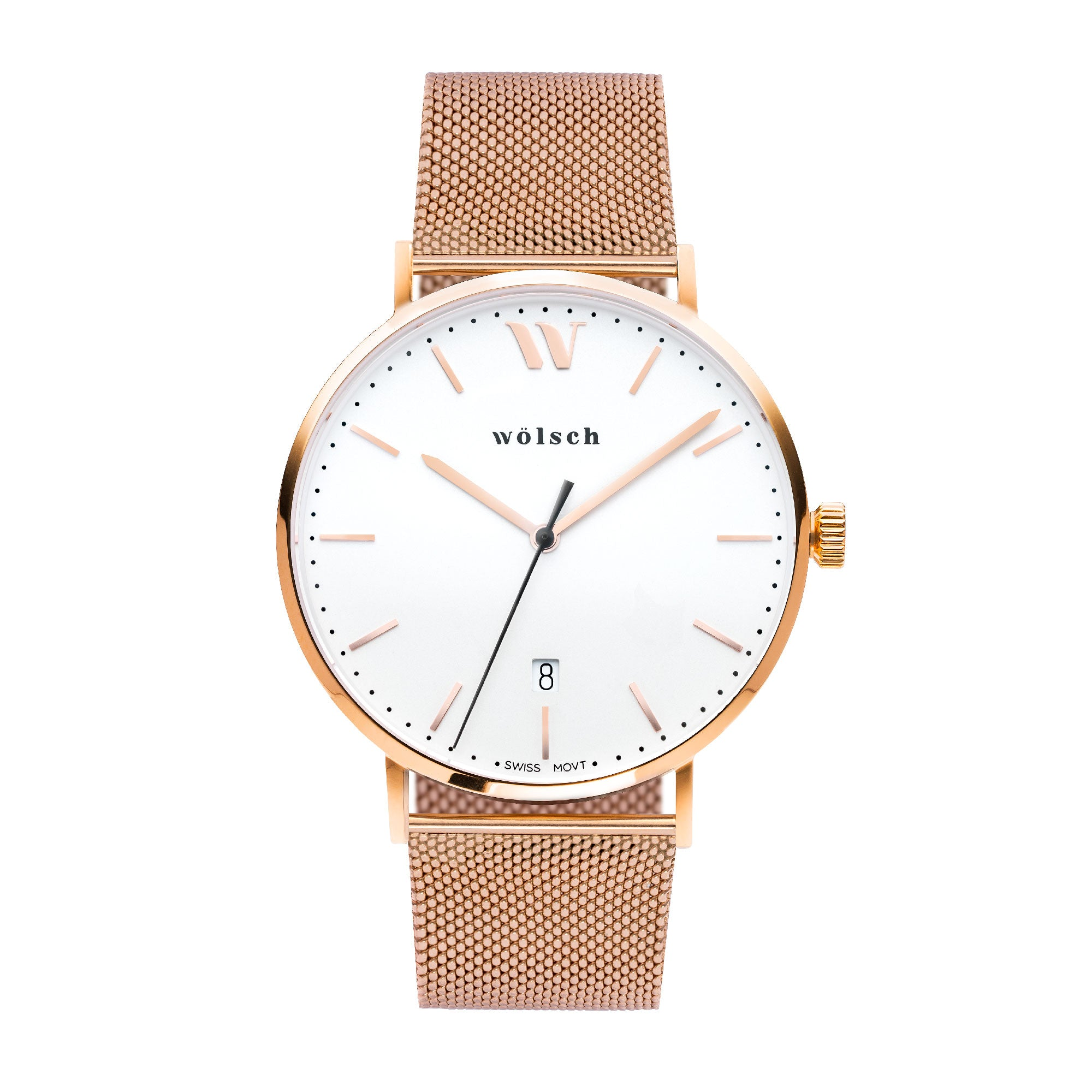 conrad charles watches white leather watch unisex products rose gold