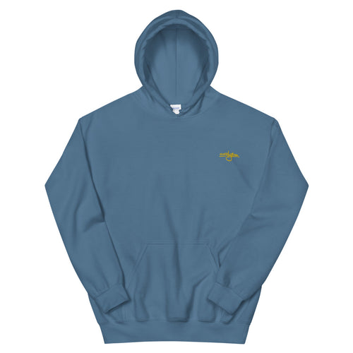 Sky Tag Hoodie (Blue w/Yellow Embroidery)