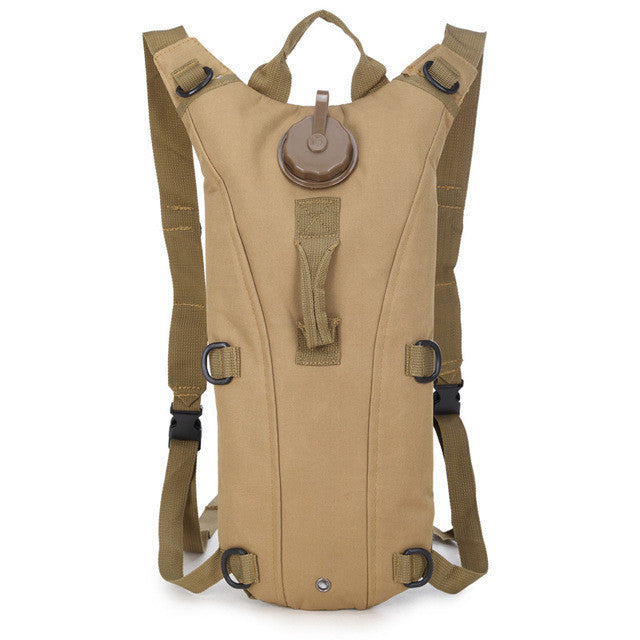 everyman.co.nz KHAKI 3L TACTICAL HYDRATION BACKPACK