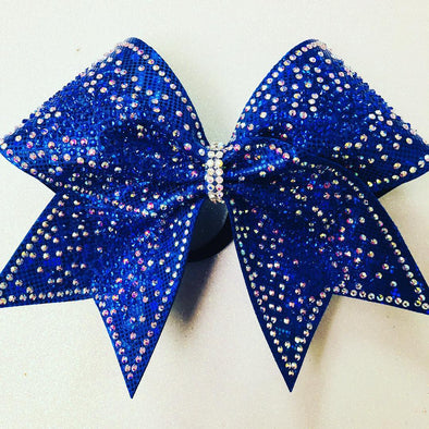 Blue Rhinestone Beauty Bow