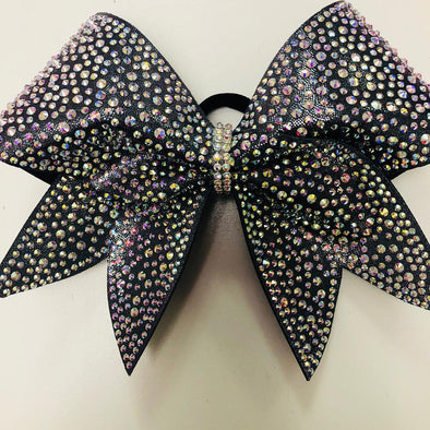 Gorgeous Black Rhinestone Bow