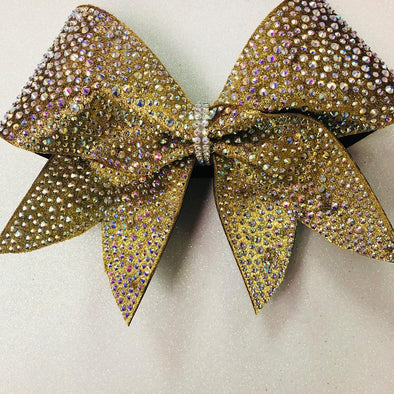 Gorgeous Gold Rhinestone Bow