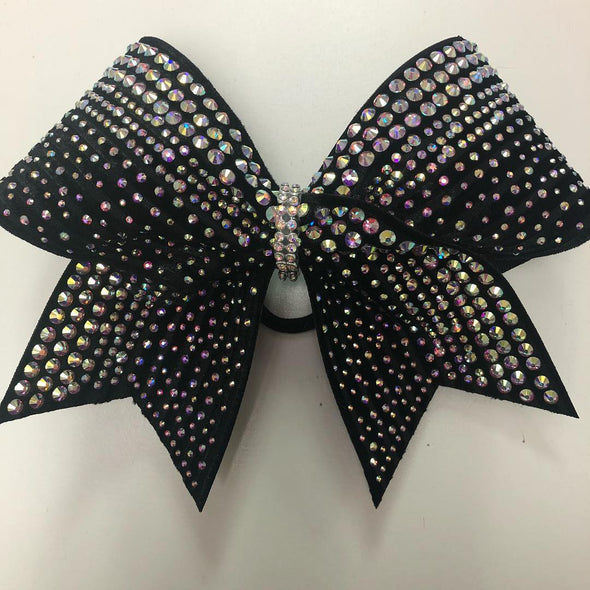 Royalty Black Rhinestone Bow