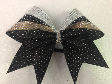 Black & Gold Beauty Bow