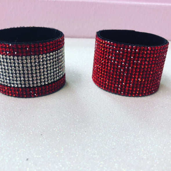 Rhinestone One Color Hair Cuff