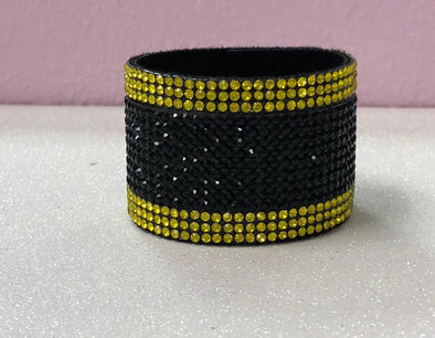 Rhinestone Two Color Hair Cuff