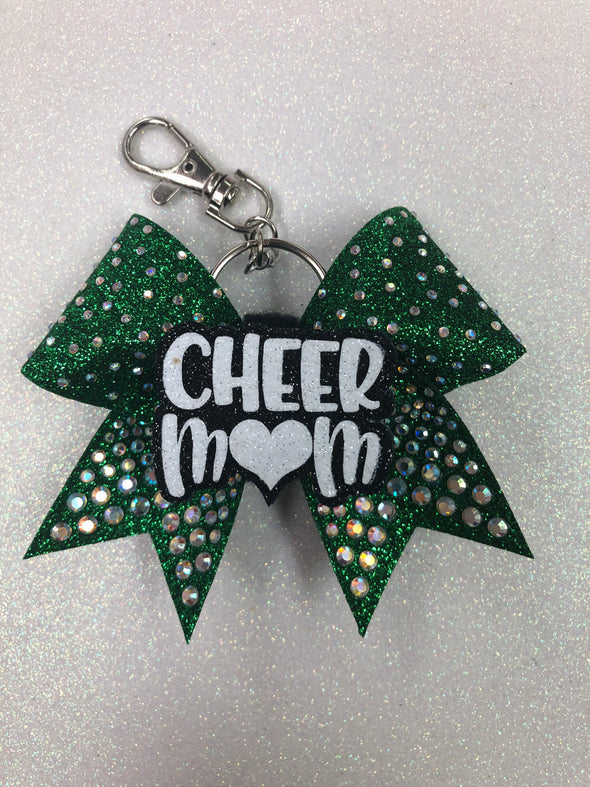 Cheer Mom Keychain Bow