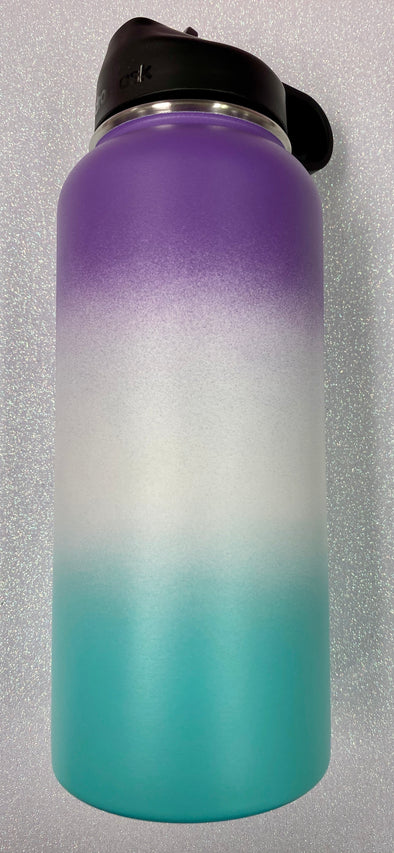 Purple White Teal Ombré Waterbottle