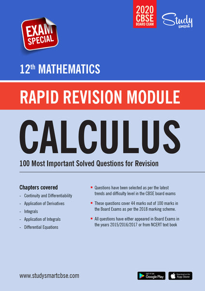 Class 12 Maths Calculus - 100 Most Important Questions with Solutions