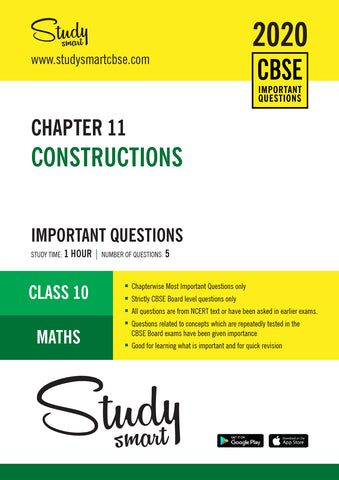 Class 10 Maths Chapter 11 Constructions Most Important Questions